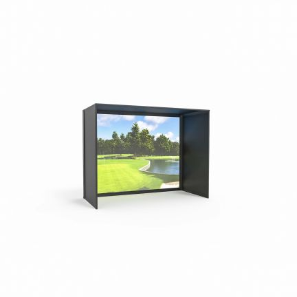 DIY Golf Simulator Enclosure Kit with Impact Screen-Preferred Golf Impact-7.7x13x10 (Remnant/Clearance)