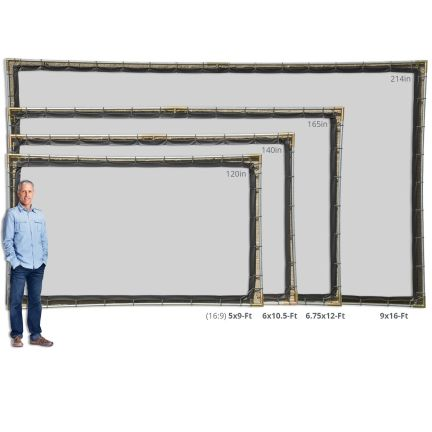 Carl's Place Projector Screen and Frame Sizes