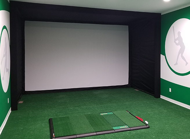 DIY Golf Simulator with Golf Impact Screen