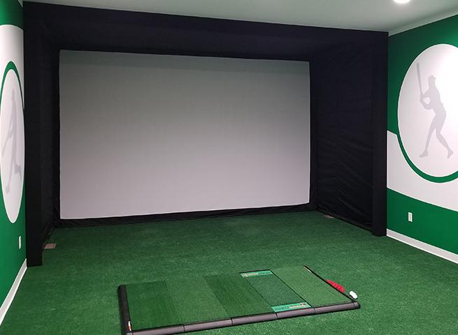 DIY Golf Simulator with Golf Impact Screen