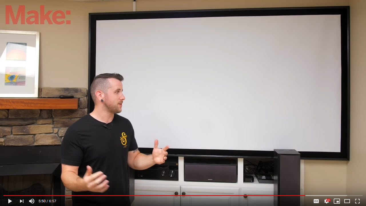 VIDEO: Make – How To Build A DIY Projector Screen