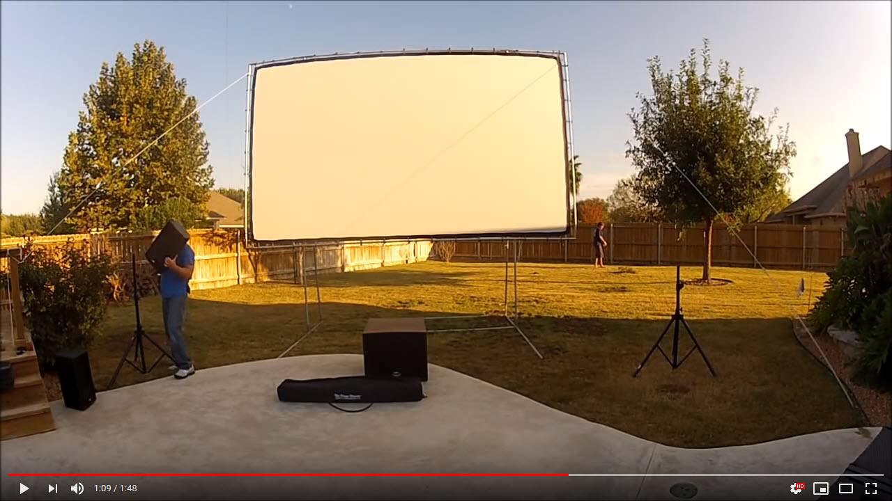 VIDEO: Scott S – Backyard Theater Setup