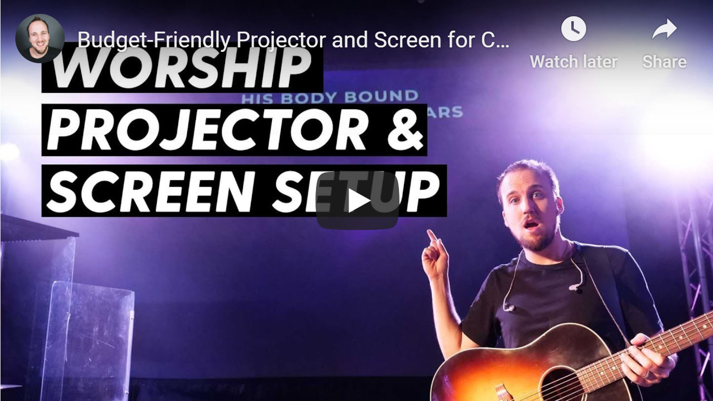 VIDEO: Budget-Friendly Projector Screen for Churches by Churchfront w/Jake G.