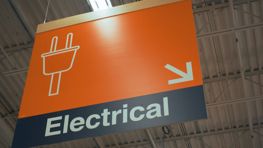 Electrical isle of local hardware store