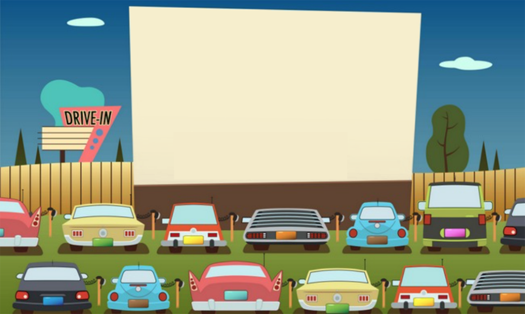 DIY drive-in movie theater
