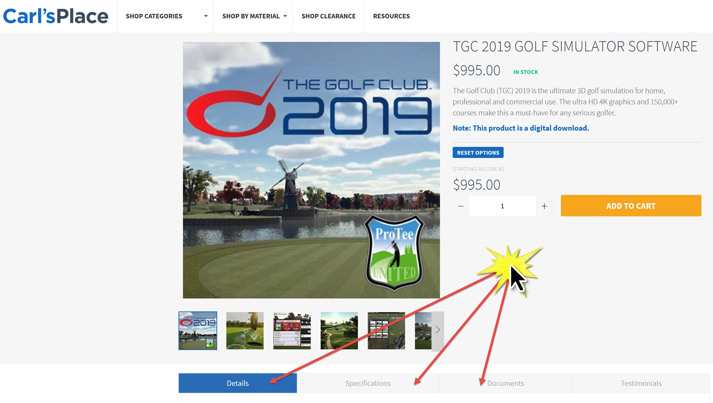TGC 2019 Specs and Documents