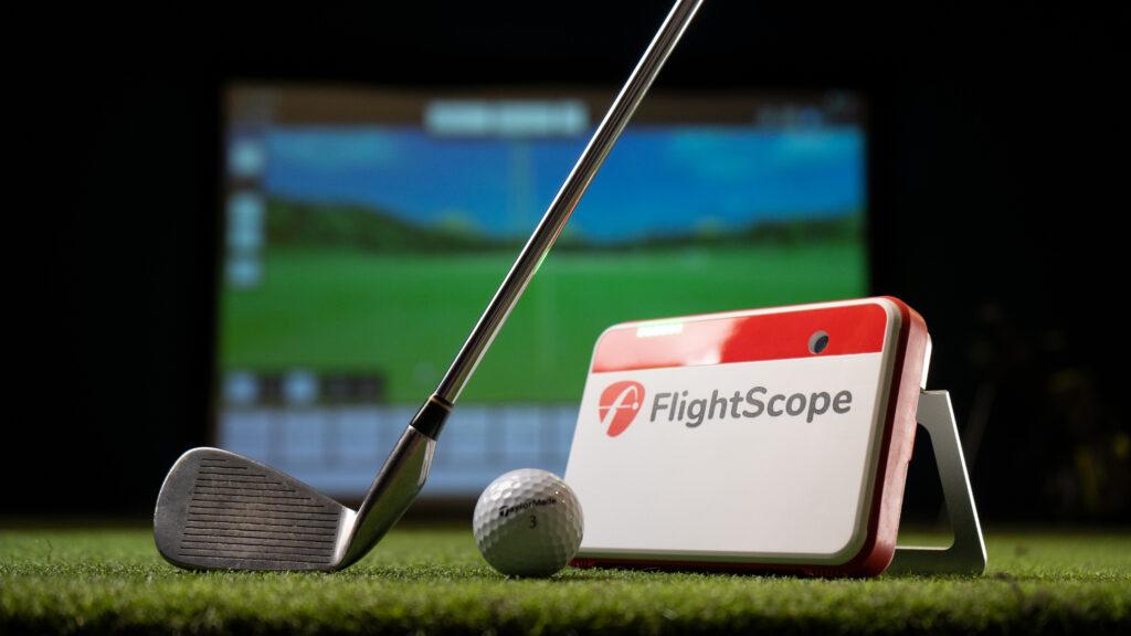 FlightScope Mevo+ in a Carl's Place Pro Golf Enclosure