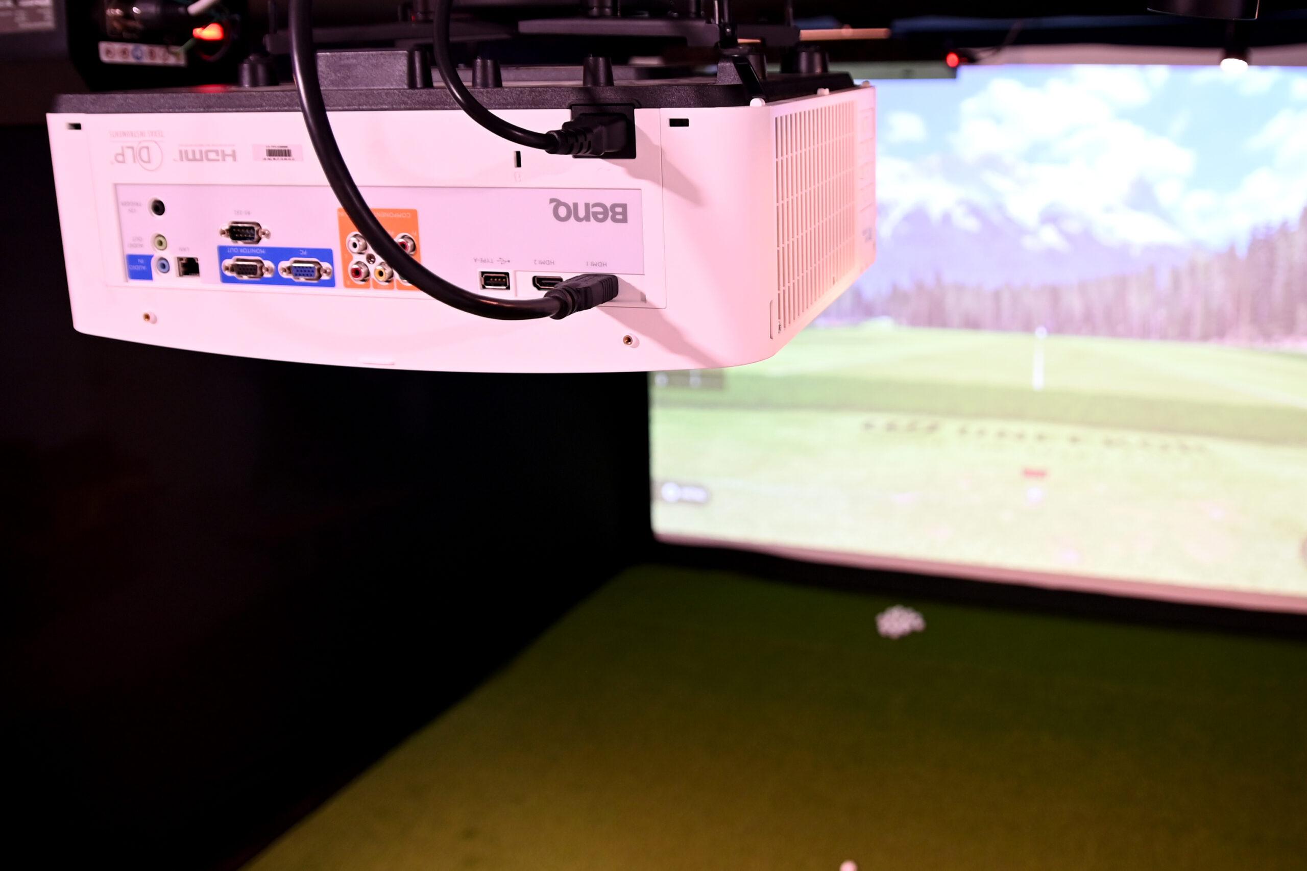 Golf Simulator Projector Set Up