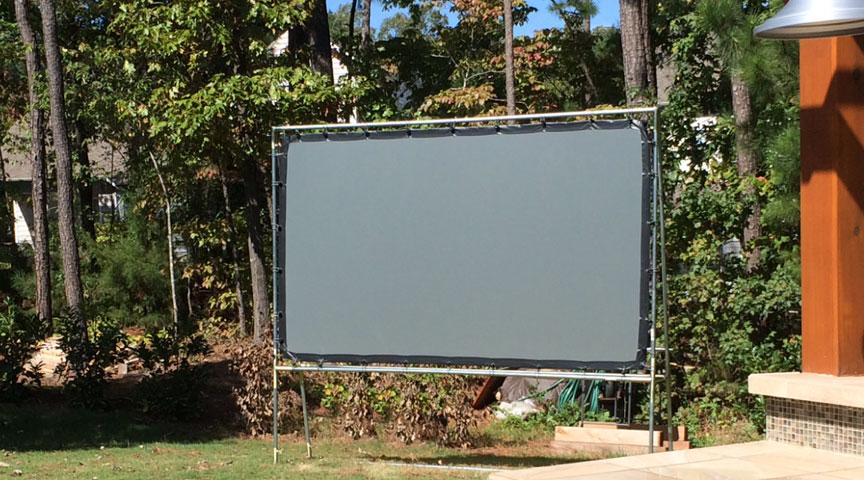 Freestanding Backyard Screen